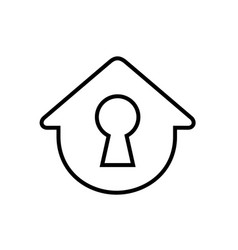 Simple house with keyhole vector