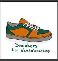 sneakers for skateboarding vector image