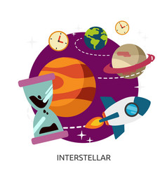 Space interstellar image vector