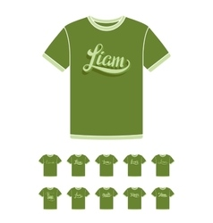 T-Shirt design with the personal name Liam vector image vector image