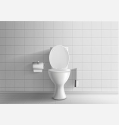 toilet room equipment 3d realistic mockup vector image
