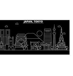 tokyo city silhouette skyline japan - tokyo city vector image