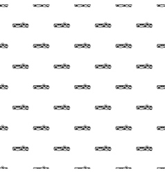 Tram pattern simple style vector image