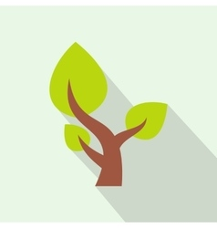 Tree saving plants flat icon vector