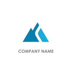 triangle abstract mountain logo vector image
