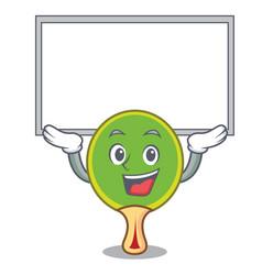Up board ping pong racket character cartoon vector