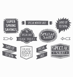 variety sales tag set vector image