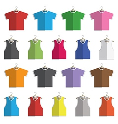 vests and tshirts vector image