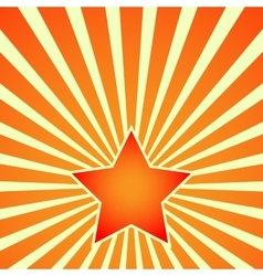 Victory Day Red Star on background of rays vector image