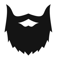 Villainous beard icon simple style vector