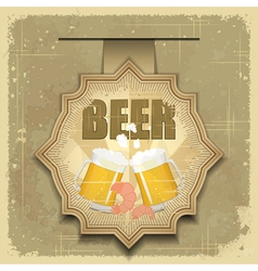 vintage postcard cover menu - beer vector image