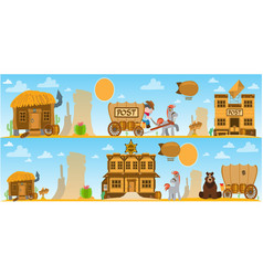 wild west and american indian game background vector image