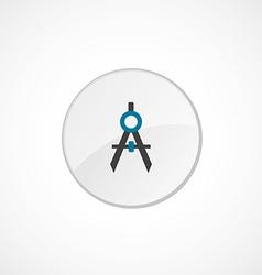 Compasses icon 2 colored vector