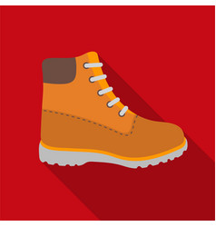 hiking boots icon in flat style isolated on white vector image