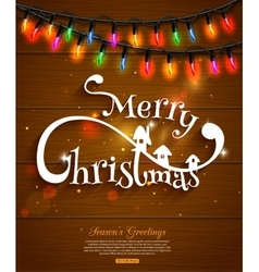 Merry Christmas typographical background and vector image vector image