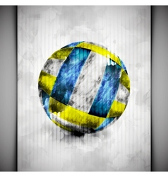 Volleyball ball watercolor vector image vector image