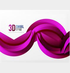 3d wave design vector image