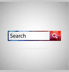 abstract creative concept icon of search vector image