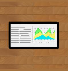 annual data statistics vector image vector image