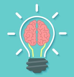 Brain and Idea Concept vector image