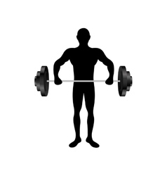 fit man silhouette icon image vector image