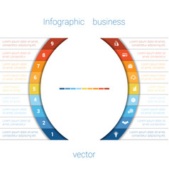infographic strips and semicircle 9 vector image vector image