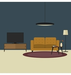 Living room concept in flat style vector image vector image