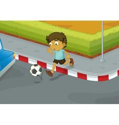 Traffic danger vector image