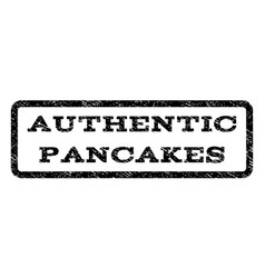 authentic pancakes watermark stamp vector image