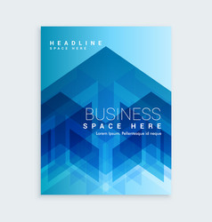 business brochure template with blue abstract vector image vector image