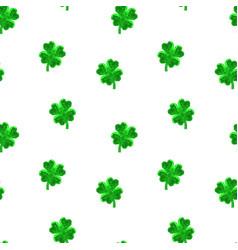 crystal polygonal four-leaf lucky clover seamless vector image