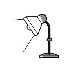 desk lamp light bulb elecrtic line shadow vector image