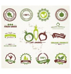 Labels nature vector image