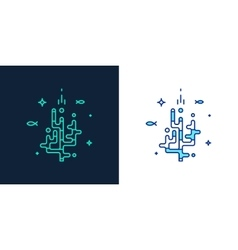 linear style icon of a corals vector image vector image