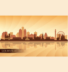 louisville city skyline silhouette background vector image