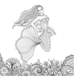 mermaid 7 vector image