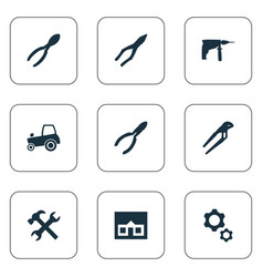 Set of simple wrench icons vector
