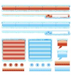 web site menu set vector image