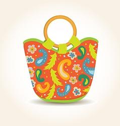 Summer woman bag with china print vector