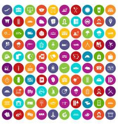 100 dispatcher icons set color vector