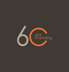 60 year amazing template design vector
