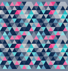 abstract blue geometric seamless pattern vector image