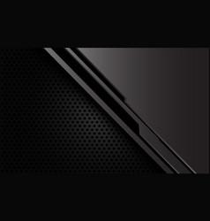 Abstract grey metallic black cyber circle mesh vector