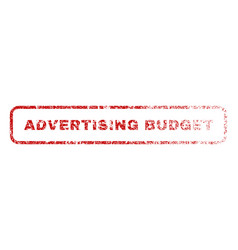 advertising budget rubber stamp vector image