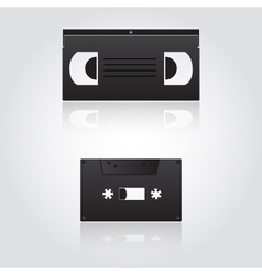 audio and video cassette symbols eps10 vector image