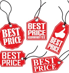 Best price red tag set vector