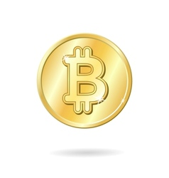 Bitcoin currency sign vector