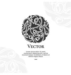 Black abstract circle ornament pattern vector