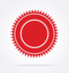 blank red document award certificate seal vector image