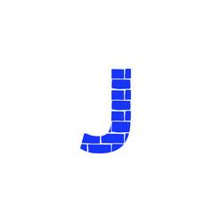 Brick logo letter j vector